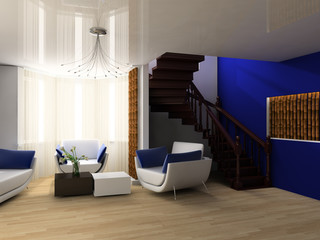 Stair in a drawing room