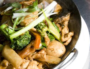 shrimp chicken pan asian thai food