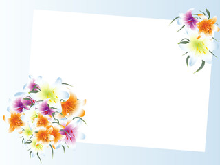 template with lily bouquet