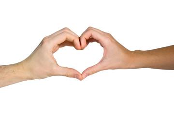 Hand's heart