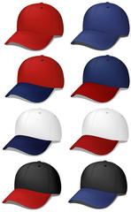 Baseball caps - realistic vector illustrations