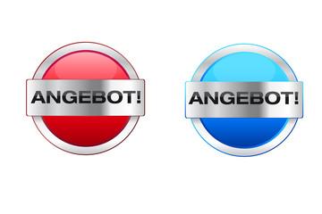 Angebot Icon Rot und Blau