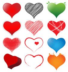 Fototapeta Valentie's Day Hearts Pack obraz