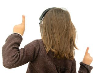 écouter de la musique et danser avec un casque