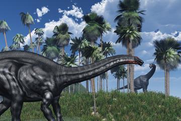 Prehistoric Scene with Dinosaurs - 3D render