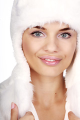 Winter portrait of a smiling woman