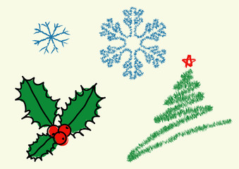 Elements of Christmas design