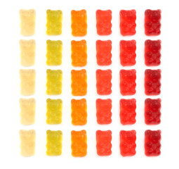 Gummi bears isolated