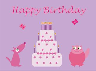 Birthday cake for girls