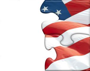 US flag puzzle