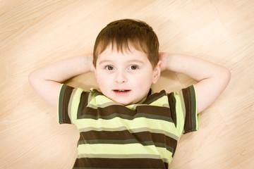 Portrait of cute preschool boy