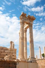 Trajan temple in Pergamon Turkey