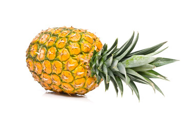 Closeup shot of an isolated pineapple