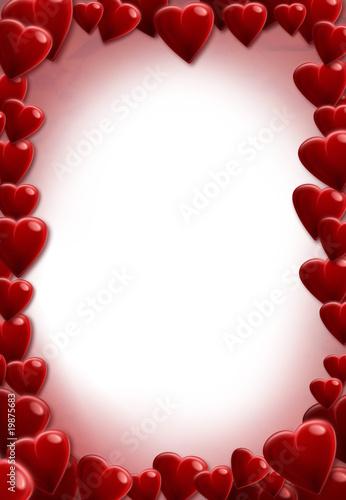 modele de lettre vierge Lettre d'amour coeurs carte voeux A4 vierge