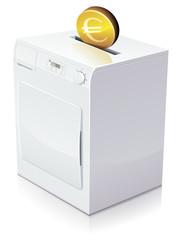Investir en euros dans un sèche-linge (reflet)