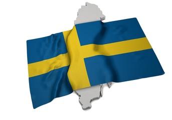 Flagge über Schweden