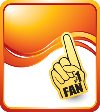 fan hand orange wave background