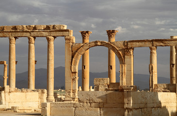 Antique ruins of Palmyra