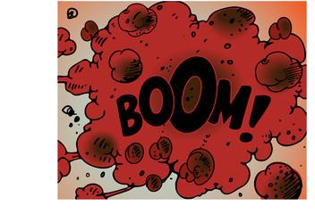 Comic book explosion - Boom!