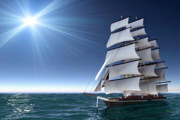 Foto auf Gartenposter Segeln Sailing boat