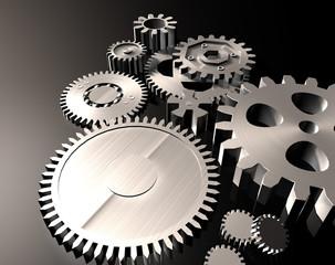 bodegon mecanismo de piezas de metal