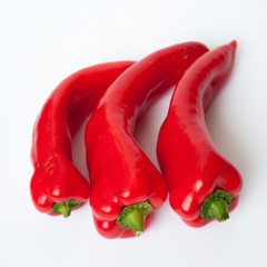 Wall Mural - red long peppers