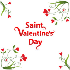 """St Valentine's Day"" Card (wishes love romance heart)"