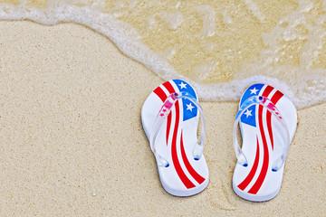 American themed thongs