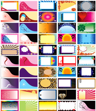 50 Horizontal Business Cards