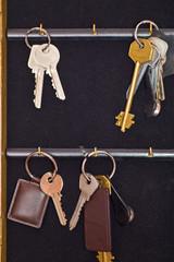 keys on black