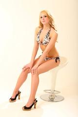 Blonde Bikini Model