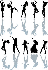 ten dancing girls