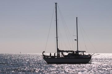 Evening row by Black Sea