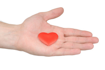 Valentine heart in male hand