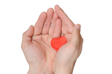 Valentine heart in female hands