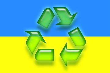 Flag of Ukraine recycling