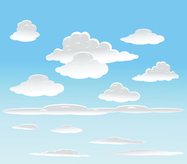 Papiers peints Ciel vector background with sky and clouds