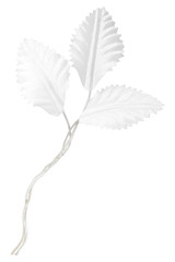 artificial wedding leaves isolated on white