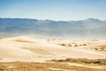Wind of Death Valley. California. USA