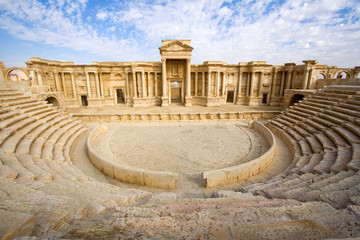 View of the great theatre of Palmyra