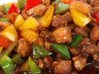 Chinese Fried Chicken with peppers
