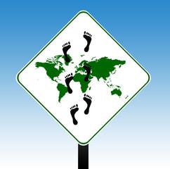Carbon footrpint sign