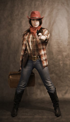 In a western movie style