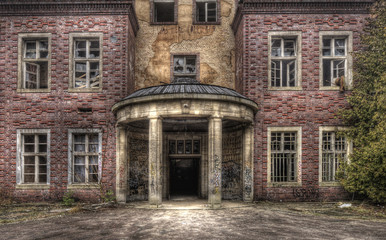 Canvas Prints Old Hospital Beelitz Geisterhaus