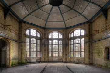 Canvas Prints Old Hospital Beelitz alte Halle
