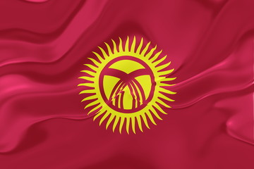 Flag of Kyrgyzstan wavy