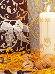 decoration with candle