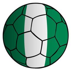 balón bandera selección Nigeria