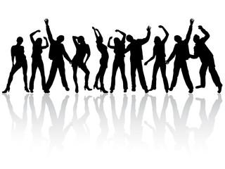 Feiernde junge Menschen