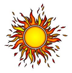 Sonne, Sonnenstrahlen, Feuer, heiß, Süden, Sun